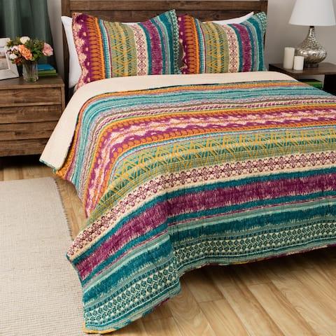 Greenland Home Fashions Southwest BoHo Cotton 3-piece Quilt Set