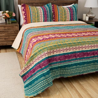 Greenland Home Fashions Southwest BoHo Cotton 3-piece Quilt Set (3 options available)
