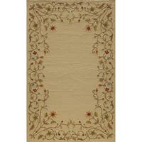 Momeni Veranda Beige Floral Border Indoor/Outdoor Rug (3'9 X 5'9)