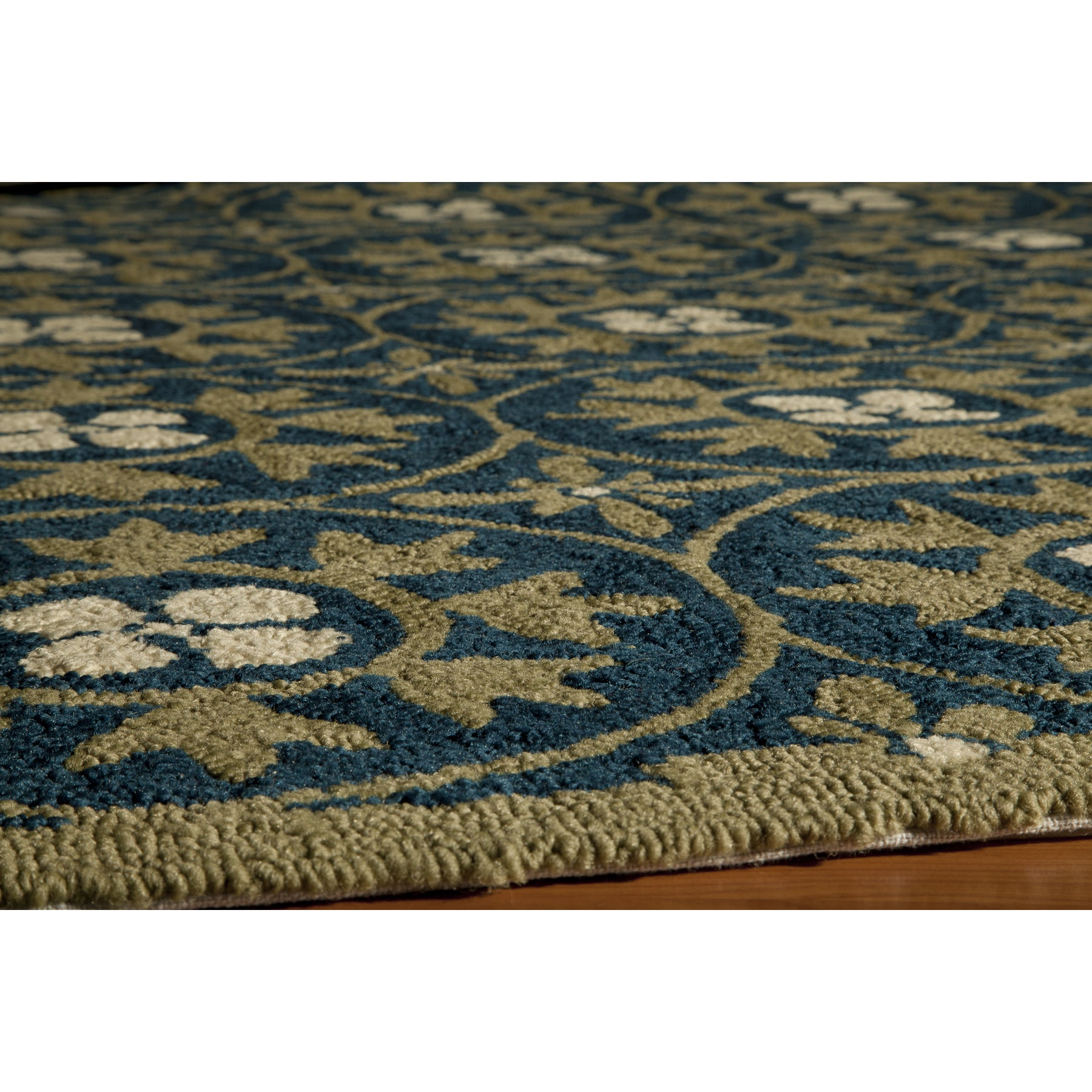 Momeni Veranda Blue Moroccan Tile Indoor Outdoor Rug 3 9 X 5 9