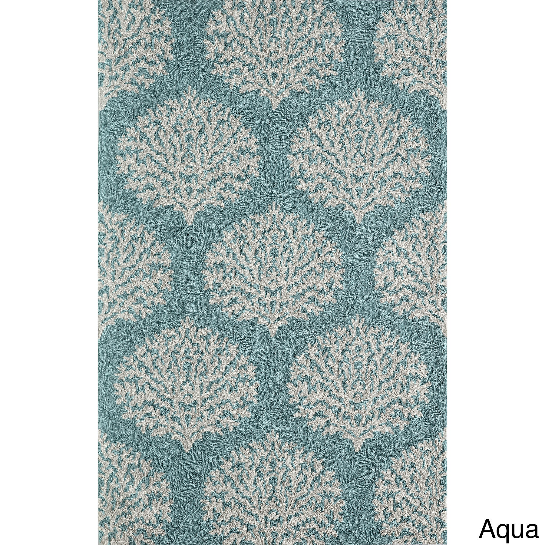 Momeni Veranda Aqua C Reef Indoor Outdoor Rug