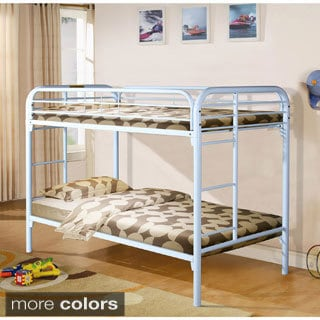 Donco Kids Modern Metal Twin Bunk Bed