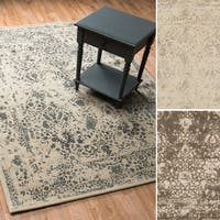 Transitional Antique Ivory Vintage Glam Rug - 12' x 15'