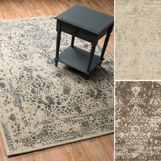 Transitional Antique Ivory Vintage Glam Rug
