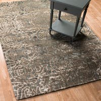 Transitional Dark Taupe Multi Vintage Glam Rug - 12' x 15'