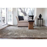 Transitional Dark Taupe Multi Vintage Glam Rug - 9'2 x 12'2