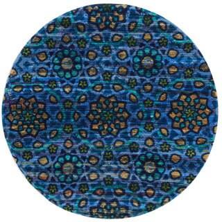 Flatweave Maria Arabesque Round Rug (3'0 x 3'0)