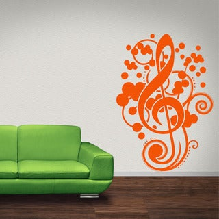 Musical Clef Vinyl Wall Decal
