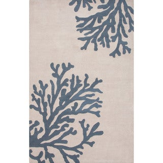 Hand-Tufted Coastal Pattern Ivory\Blue (2x3) Area Rug