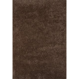 Shag Solid Pattern Brown\Brown (2x3) Area Rug