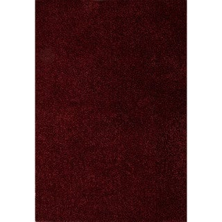 Shag Solid Pattern Red\Red (2x3) Area Rug