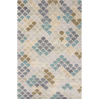 Hand-Tufted Coastal Pattern Blue\Blue (2x3) Area Rug