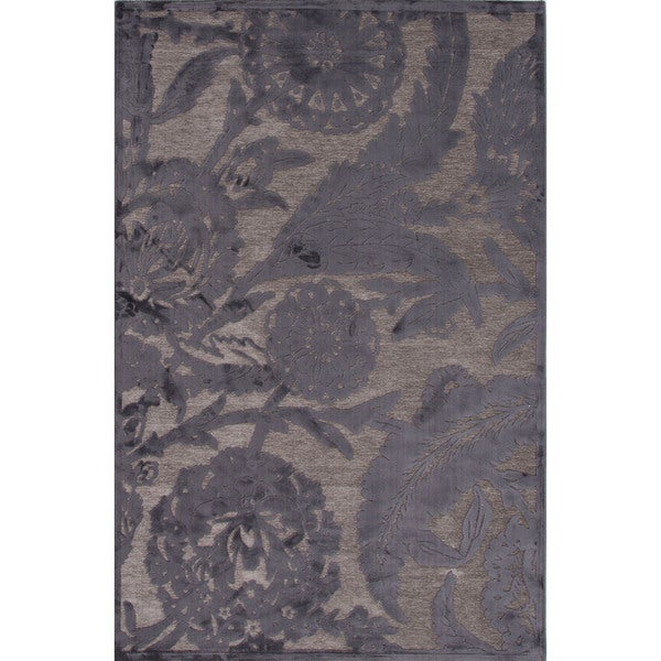 Shop Machine Made Floral Pattern Grey Gray 2x3 Area Rug
