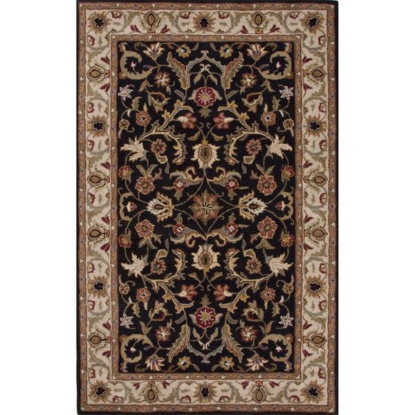 Shop Hand Tufted Oriental Pattern Black Ivory 2x3 Area