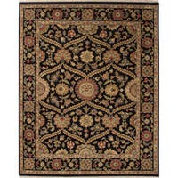 Hand-Knotted Oriental Black Area Rug (2' X 3')
