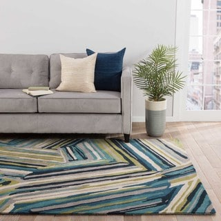 Barnum Handmade Abstract Multicolor Area Rug (8' X 11')