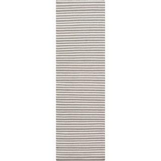 Hand-Woven Lothian Stripe Reversible Wool Rug (2'6 x 8')