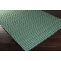 Hand-Woven Lothian Stripe Reversible Wool Area Rug (2' x 3')