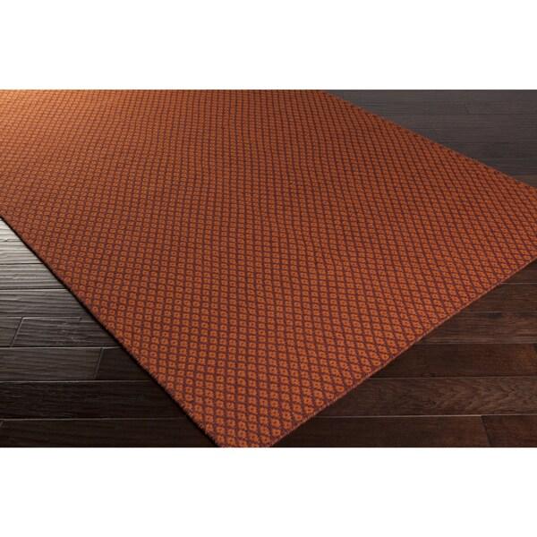 Hand-Woven Marisol Geometric Reversible Wool Area Rug (5' x 8')
