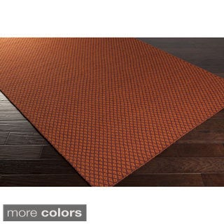 Hand-Woven Marisol Geometric Reversible Wool Rug (5' x 8')