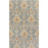 Hand-Tufted Miranda Ikat Pattern Wool Area Rug (8' x 11')
