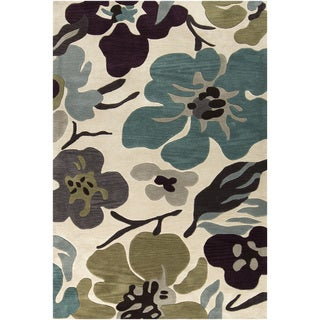 Hand-Tufted Moncia Floral Pattern Area Rug