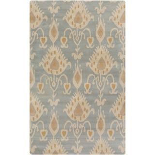 Hand-Tufted Miranda Ikat Pattern Wool Rug (5' x 8')