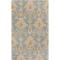 Hand-Tufted Miranda Ikat Pattern Wool Area Rug (5' x 8')