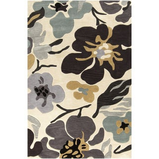 Hand-Tufted Moncia Floral Pattern Polyester Rug (5' x 7'6)