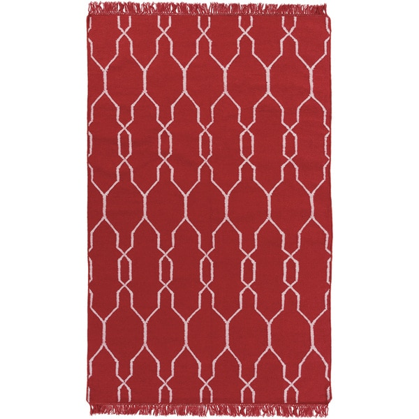 Hand-Woven Terrell Lattice Pattern Indoor/Outdoor Area Rug (9' x 13')