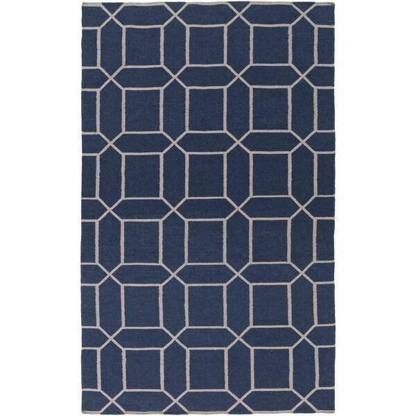 Hand-Woven Rodolfo Geometric Pattern Indoor/Outdoor Area Rug - 8' x 11'