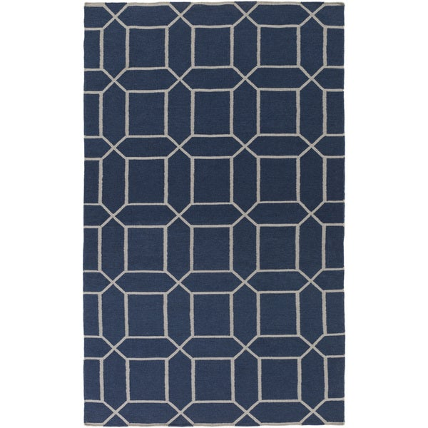 Hand-Woven Rodolfo Geometric Pattern Indoor/Outdoor Area Rug (8' x 11')