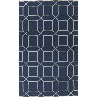 Hand-Woven Rodolfo Geometric Pattern Indoor/Outdoor Rug (8' x 11')