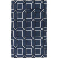 Hand-Woven Rodolfo Geometric Pattern Indoor/Outdoor Area Rug - 8' x 11'