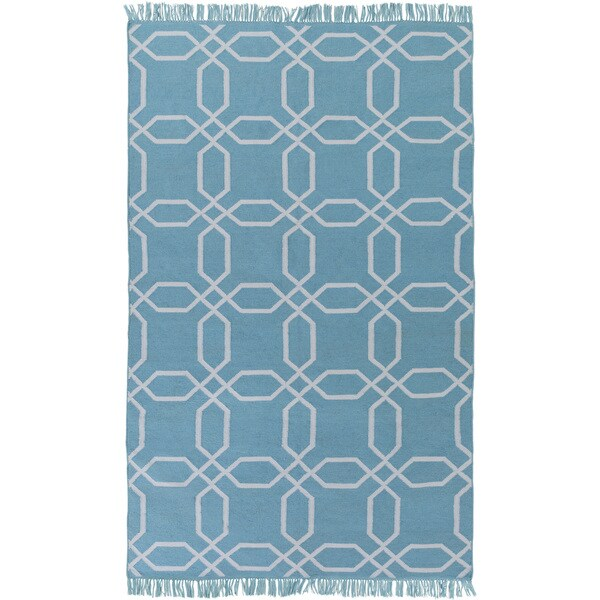 Hand-Woven Tiffany Geometric Pattern Indoor/Outdoor Area Rug - 8' x 11'