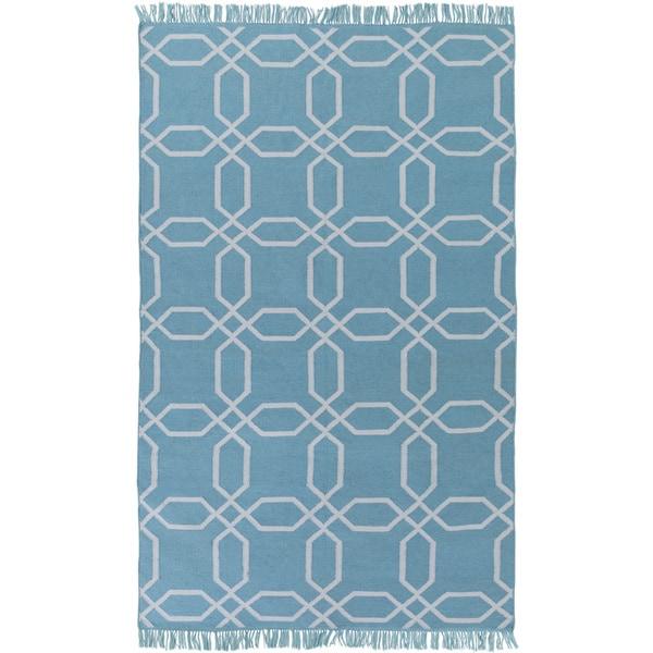Hand-Woven Tiffany Geometric Pattern Indoor/Outdoor Area Rug (8' x 11')
