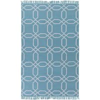 Hand-Woven Tiffany Geometric Pattern Indoor/Outdoor Area Rug