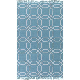 Hand-Woven Tiffany Geometric Pattern Indoor/Outdoor Area Rug - 8' x 11'