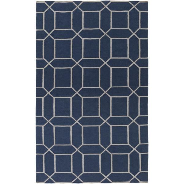 Hand-Woven Rodolfo Geometric Pattern Indoor/Outdoor Area Rug - 5' x 8'