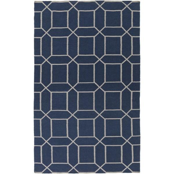 Hand-Woven Rodolfo Geometric Pattern Indoor/Outdoor Rug (5' x 8')