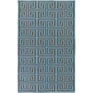 Hand-Woven Solomon Geometric Pattern Indoor/Outdoor Rug (5' x 8')