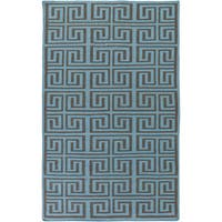 Hand-Woven Solomon Geometric Pattern Indoor/Outdoor Area Rug - 5' x 8'