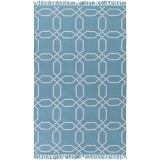 Hand-Woven Tiffany Geometric Pattern Indoor/Outdoor Rug (5' x 8')