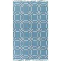 Hand-Woven Tiffany Geometric Pattern Indoor/Outdoor Area Rug - 5' x 8'