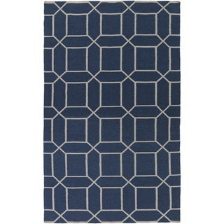 Hand-Woven Rodolfo Geometric Pattern Indoor/Outdoor Area Rug