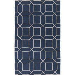 Hand-Woven Rodolfo Geometric Pattern Indoor/Outdoor Rug (3'6 x 5'6)