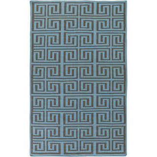Hand-Woven Solomon Geometric Pattern Indoor/Outdoor Rug (3'6 x 5'6)