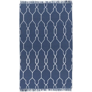 Hand-Woven Terrell Lattice Pattern Indoor/Outdoor Rug (3'6 x 5'6)