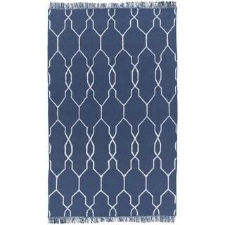 Hand-Woven Terrell Lattice Pattern Indoor/Outdoor Area Rug