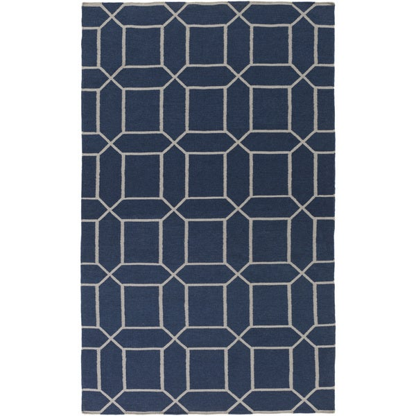 Hand-Woven Rodolfo Geometric Pattern Indoor/Outdoor Area Rug